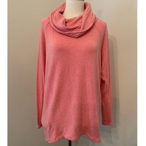 Soft! Lou and Grey coral cowl neck sweatshirt